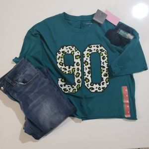 Grayson Threads 90's Graphic Crop Top Tshirt NWT